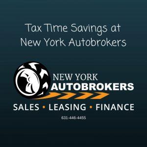 Tax Time Savings NY Autobrokers